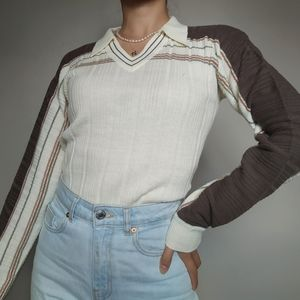 Vintage Collared Knit Shirt